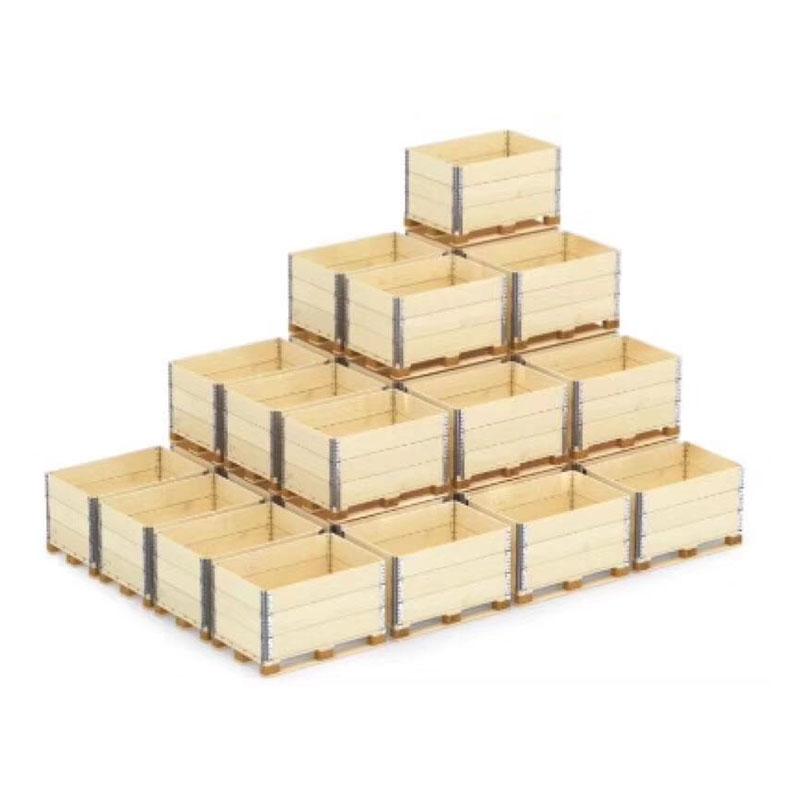 钢边实木木箱